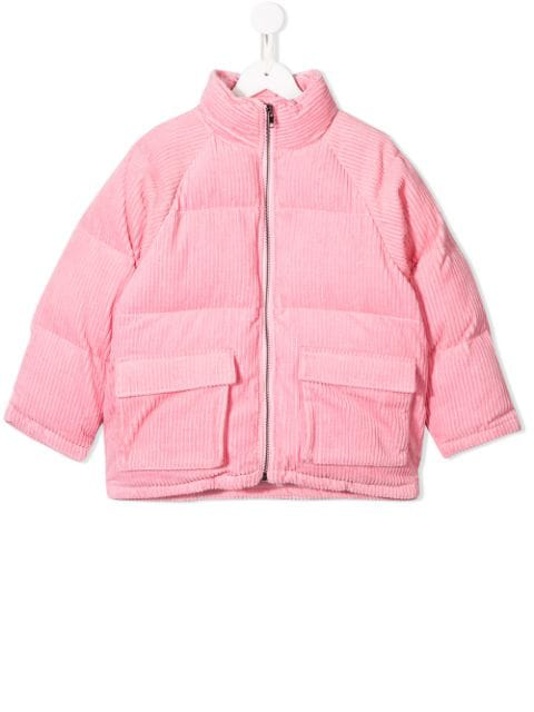 Stella Mccartney Kids' Quilted Padded Cotton-corduroy Jacket In Pink