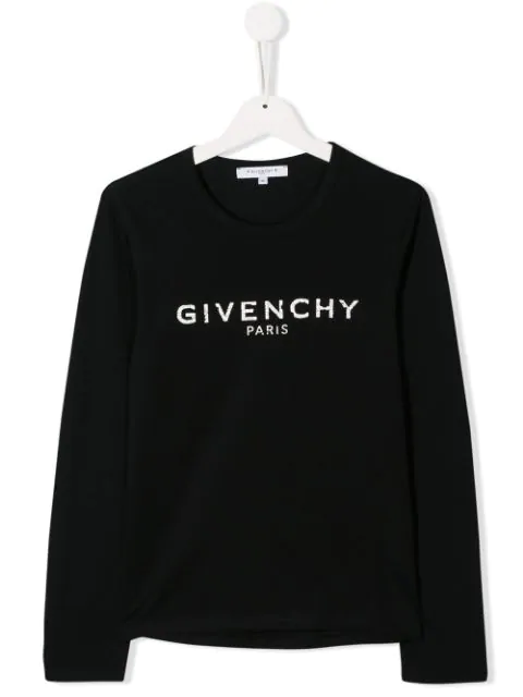 Givenchy Kids' Logo Printed Cotton Jersey T-shirt In Black