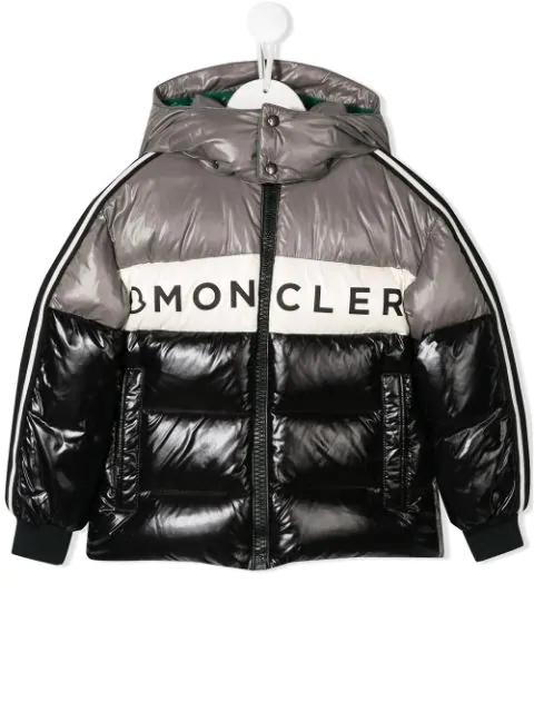 Moncler Kids' Febrege羽绒夹克 In Black