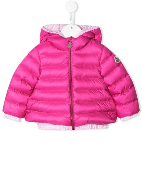 Moncler Fucsia Mirmande Baby Jacket In Pink