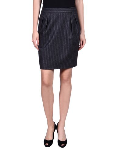 Moschino Knee Length Skirt In Steel Grey
