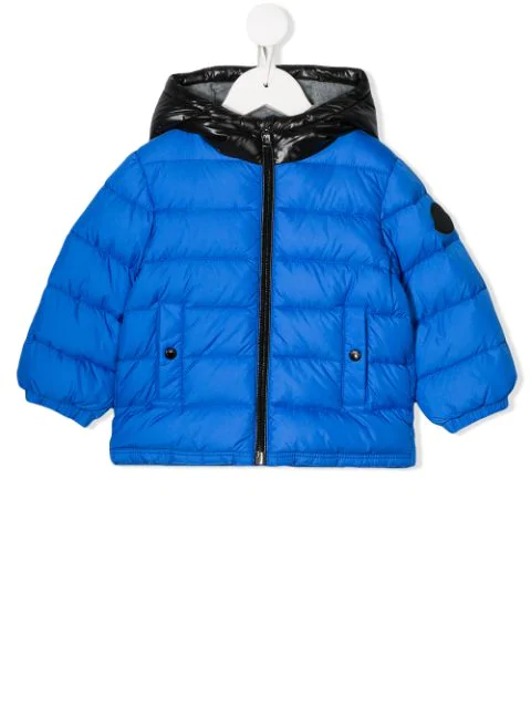 Moncler Babies' Down Jacket With Hood In Blue