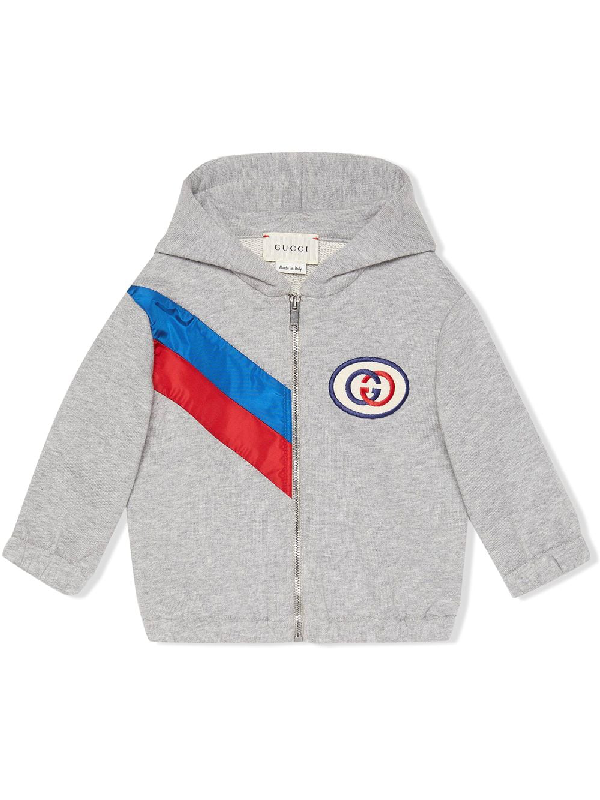 Gucci Babies' Kids Sweat Jacket For Boys In Grey