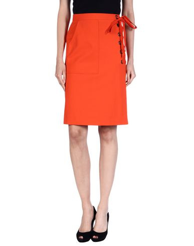 Sonia Rykiel Knee Length Skirt In Orange