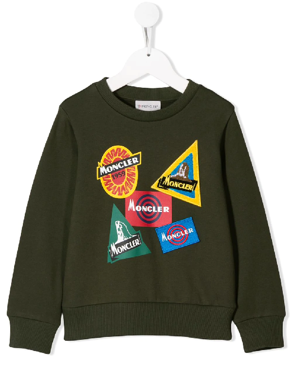 Moncler Teen Green Military Sweater
