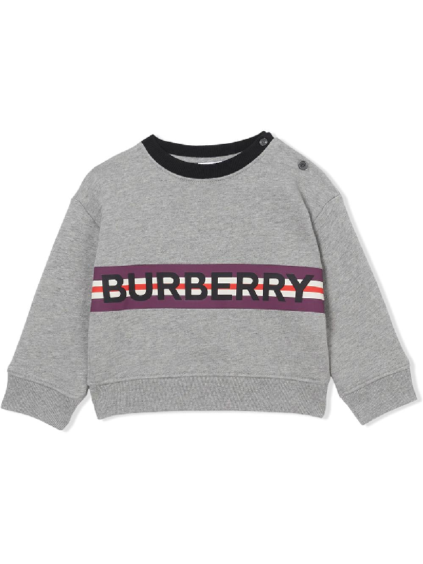 Burberry Boys' Mini Marlon Logo Sweatshirt - Baby In Grey