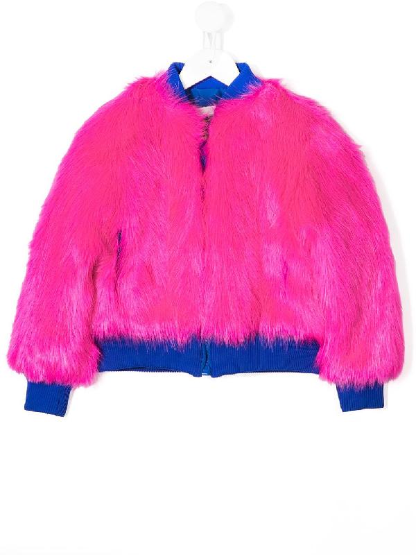 Alberta Ferretti Kids' Reversible Girl Bomber Jacket In Pink