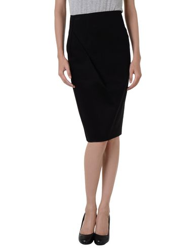 Emporio Armani Midi Skirts In Black