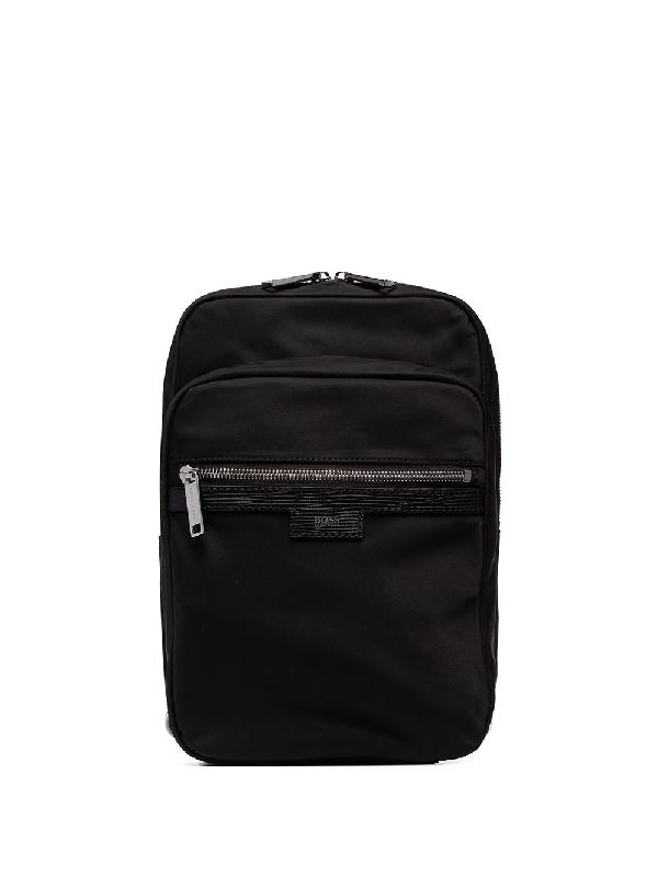 Hugo Boss Meridian One-shoulder Backpack In Black