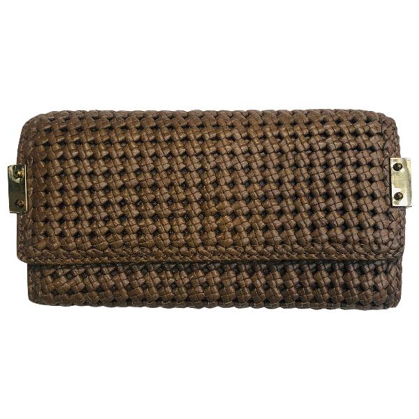 Stuart Weitzman Beige Leather Wallet