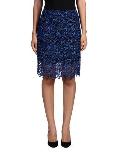 Oscar De La Renta Knee Length Skirt In Bright Blue