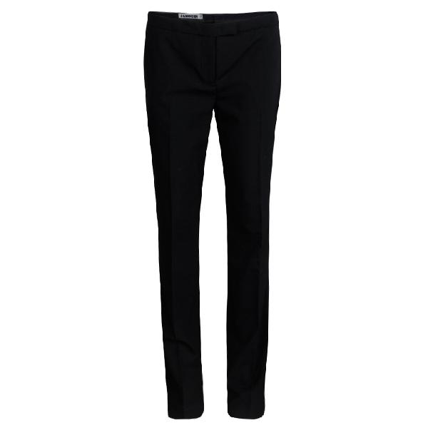 Jil Sander Black Wool Slim Fit Tailored Pants M