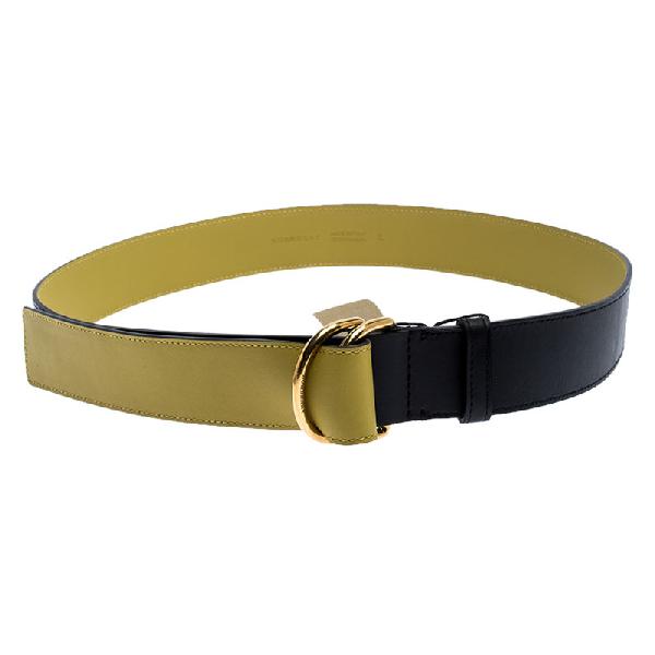 Burberry Black Leather Double D-ring Belt 120cm