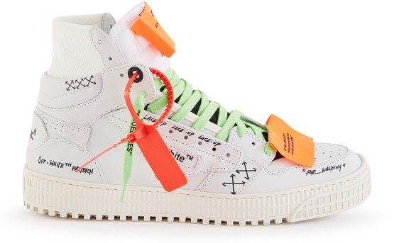 "Off-white ""off-court"" 3.0 White Suede Hi-top Sneakers In 白色"