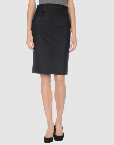 Karl Lagerfeld Knee Length Skirt In Black