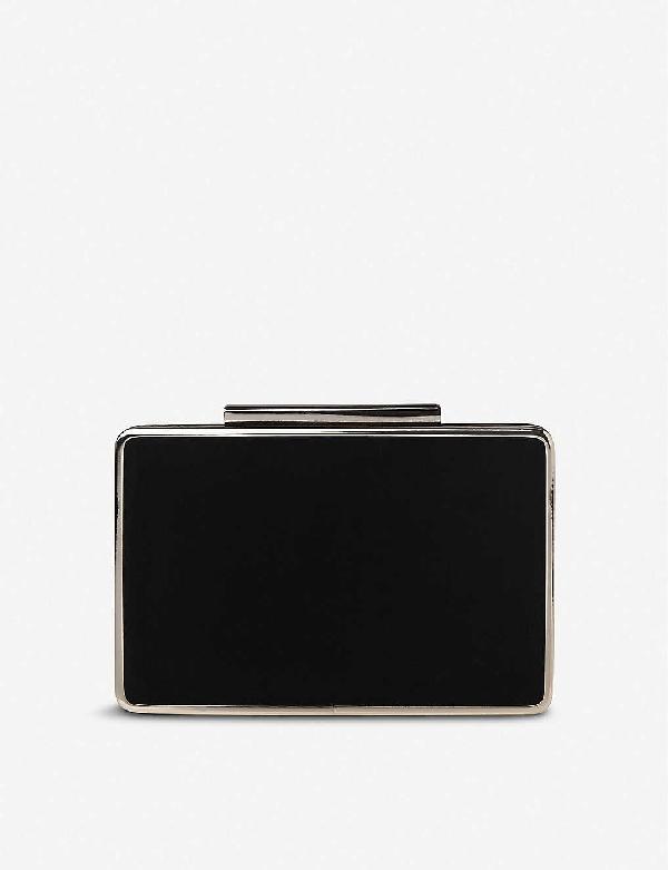 Lk Bennett Nina Suede Clutch Bag In Bla-black