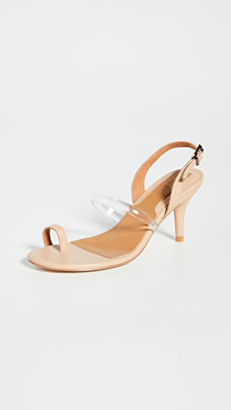 Jaggar Pvc Sandals In Nougat