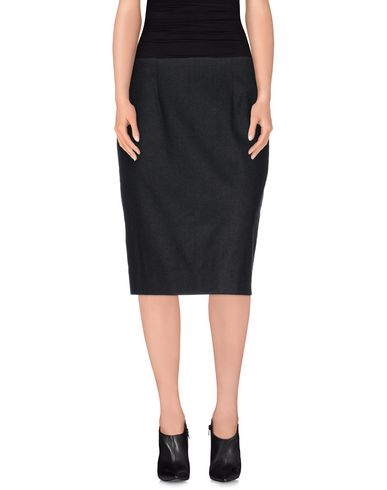 Oscar De La Renta Knee Length Skirt In Steel Grey