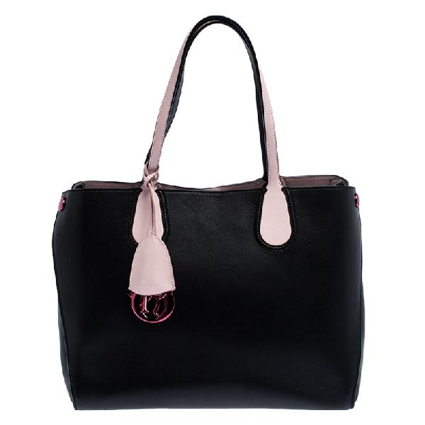 Dior Addict Shopper Tote In Black