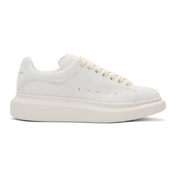 Alexander Mcqueen 白色 Sparkle Tab 阔型运动鞋 In White