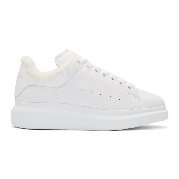 Alexander Mcqueen Ssense Exclusive White Glitter Oversized Sneakers In 9000 White