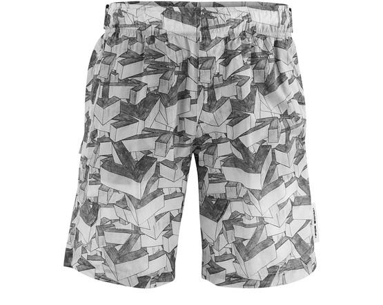 Off-white Arrows Pattern Swim Bermuda Shorts In Med