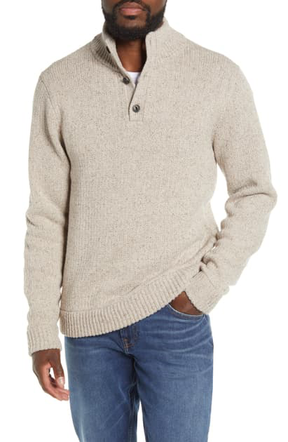 Patagonia Off Country Henley Sweater In Oatmeal Heather
