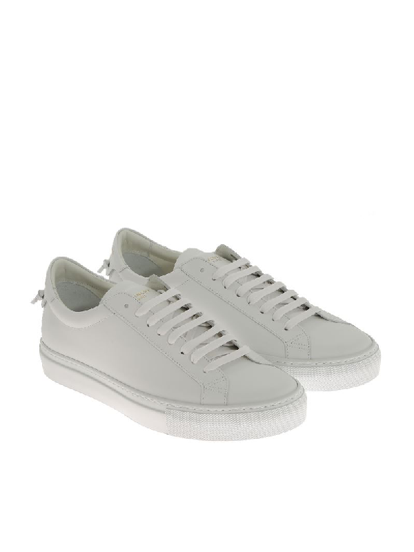 Givenchy Men's Urban Street Sheep Leather Sneakers In 100 White