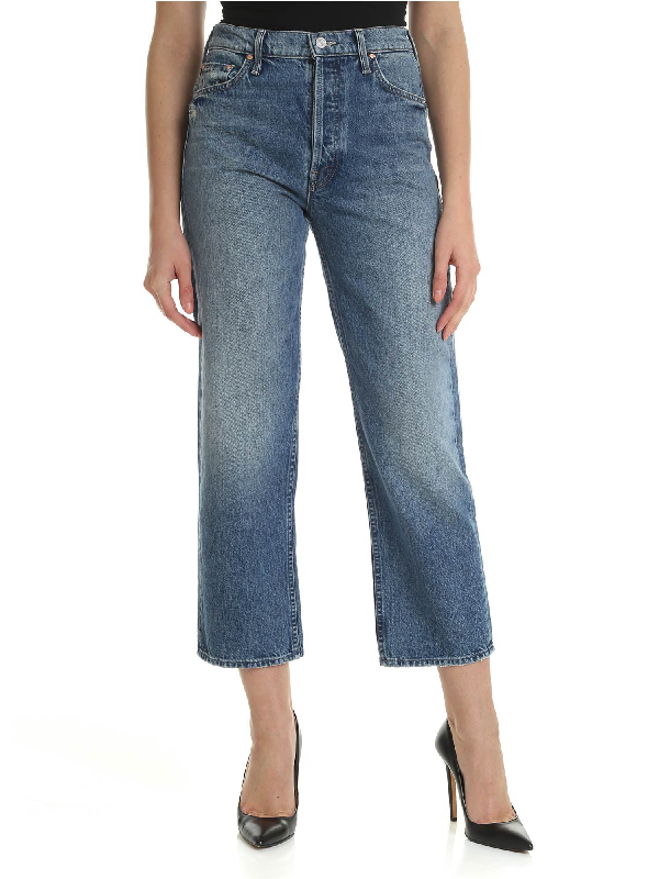 Mother The Thrasher Jeans In Blue