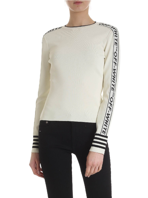 Off-white Off White Pullover In White With Bands