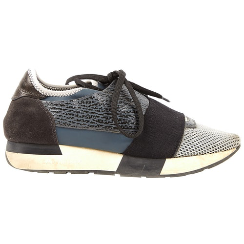 Balenciaga Race Grey Cloth Trainers