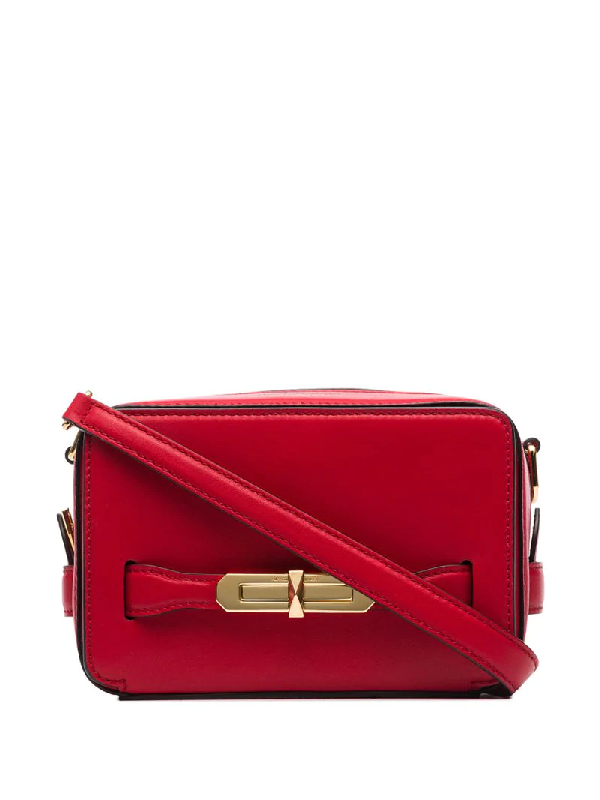 Alexander Mcqueen The Myth Small Leather Camera Bag In Red