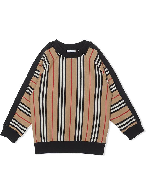 Burberry Boys' Lance Icon Stripe Sweatshirt - Little Kid, Big Kid In Neutrals