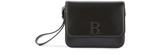 Balenciaga B. Small Leather Cross-body Bag In Black