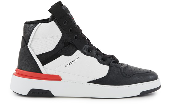 Givenchy Black And White Wing High Top Sneakers In 004 Blk/wht