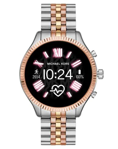 Michael Kors Access Wrist Watch In Silver