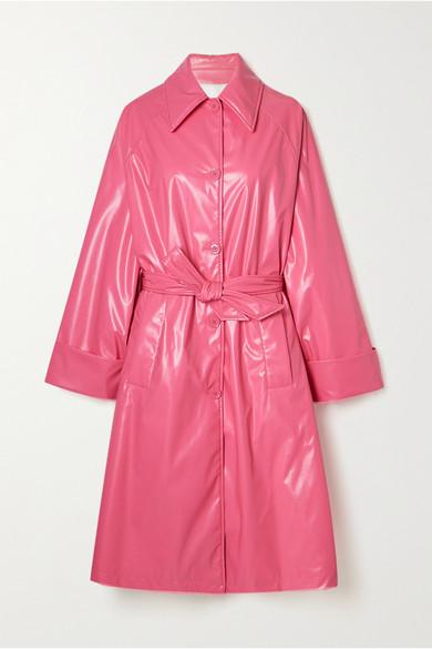 Mm6 Maison Margiela Oversized Trench Coat In Pink
