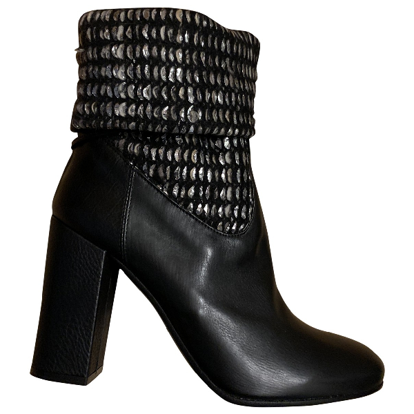 Fiorifrancesi Black Leather Ankle Boots