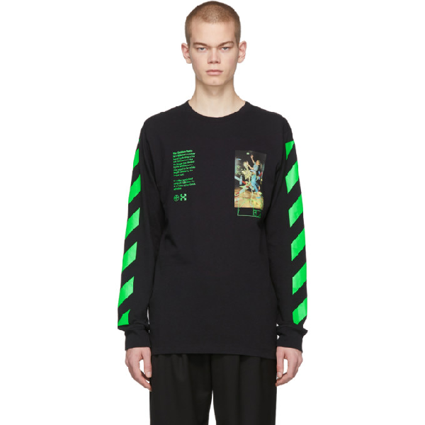 Off-white Pascal Painting Over Crewneck Sweatshirt In Black Multi