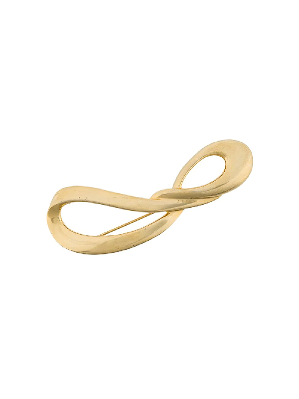Givenchy Twisted Brooch In Gold