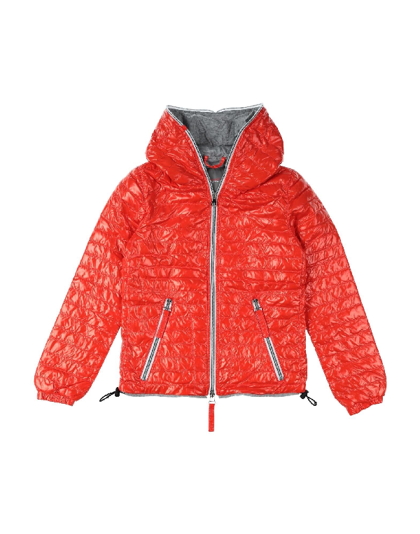 Duvetica Down Jacket In Orange