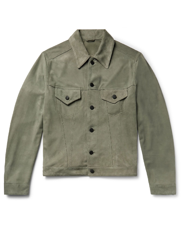 Valstar Leather Jacket In Military Green
