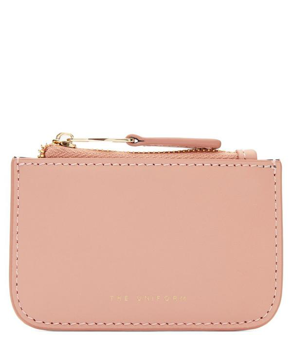 The Uniform Leather Zip Purse In Cameo