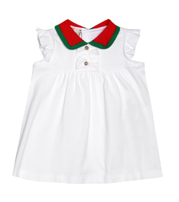 Gucci Baby Cotton-blend Dress In White