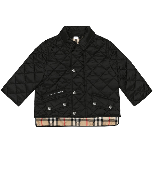 Burberry Boys' Brennan Quilted Jacket - Baby In Black