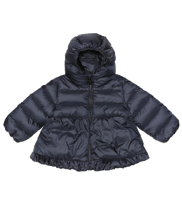 Moncler Baby Odile Quilted Down Jacket In Blue