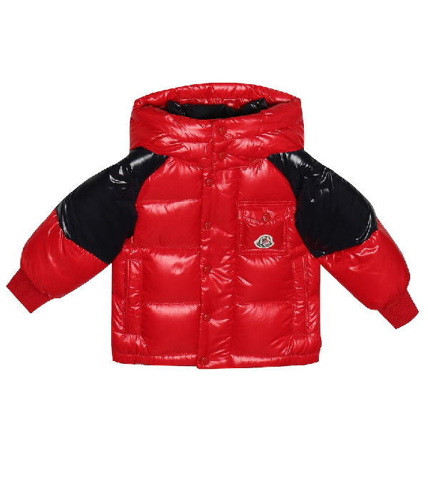 Moncler Baby Biarriz Quilted Down Coat In Red