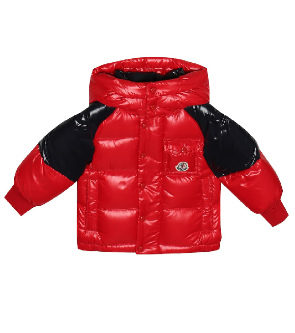 Moncler Babies' Biarriz Padded Jacket 9-36 Months In Red