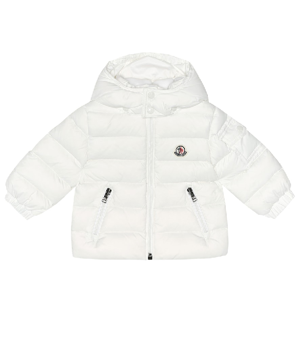 Moncler Baby Jules Quilted Down Coat In White