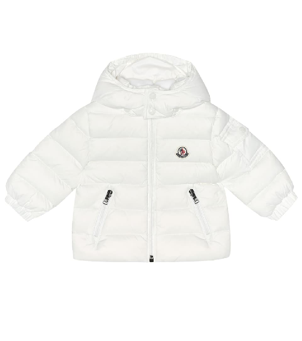 Moncler Babies' Jules Down Jacket With Detachable Hood In White